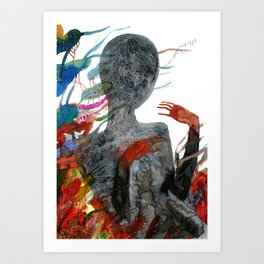 with my voice i'm calling you Art Print