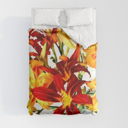 Day Lilies Comforters