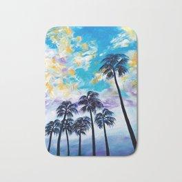 Oceanside Palm Trees Bath Mat