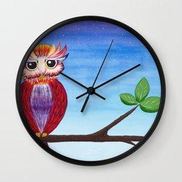 Midnight Owl Wall Clock