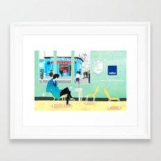 café dans le Framed Art Print