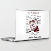 bukowski Laptop & iPad Skins featuring Charles Bukowski by brett66