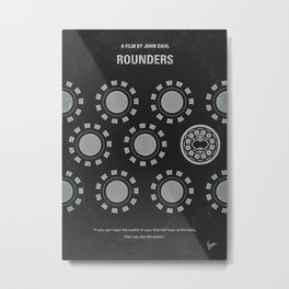 No503 My Rounders Minimal Movie Poster A Young Man Is ... Metal Print