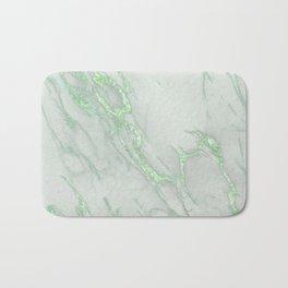 Marble Love Green Metallic Badematte
