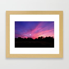 Angels in the Outfield Sunset Framed Art Print