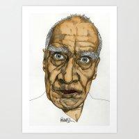 allyson johnson Art Prints featuring Wilko Johnson by Paul Nelson-Esch Art