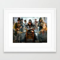 assassins creed Framed Art Prints featuring Assassins Creed by Tom Lee