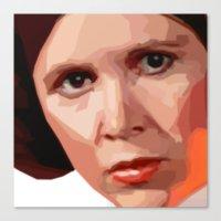 leia Canvas Prints featuring Leia by DavyR