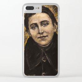 The poor Gemma (Sta. Gemma Galgani) Clear iPhone Case