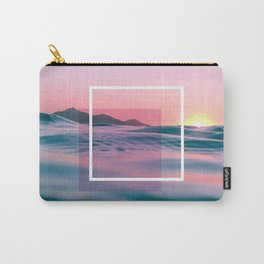 Purple And Pink Ocean Art Carry-All Pouch