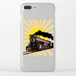 Retro Vintage Train Steam Engine Locomotive Gift Clear iPhone Case