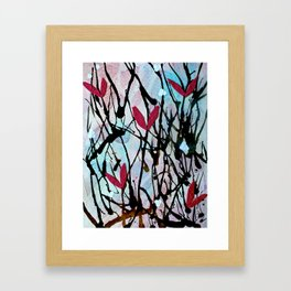 Blown Ink Painting Collage Framed Art Print
