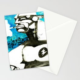 Superhero stressed in traffic Stationery Cards