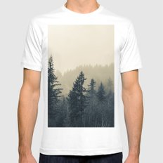 Mists of Noon Mens Fitted Tee MEDIUM White