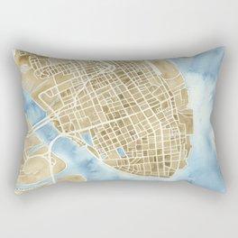 Charleston, South Carolina City Map Art Print Rectangular Pillow