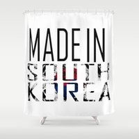 korea Shower Curtains featuring Made In South Korea by VirgoSpice
