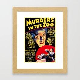 Murders in the Zoo, vintage horror movie poster Framed Art Print