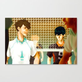 Aoba Johsai Showdown Canvas Print
