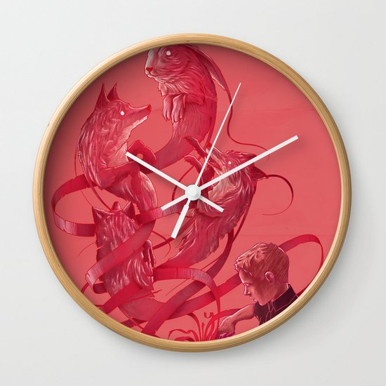 Cutting to the Chase Wall Clock