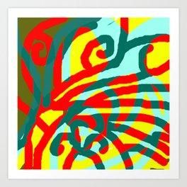 Passion veins Art Print