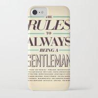 gentleman iPhone & iPod Cases featuring Gentleman! by ALLGOLD Creative