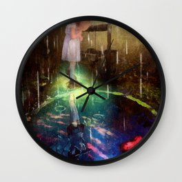 Wishing Well Wall Clock