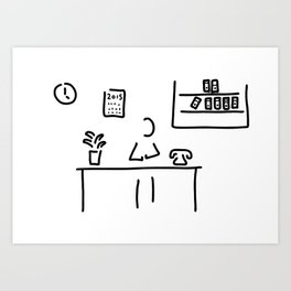 administration office Art Print