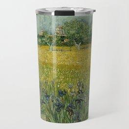 Vincent Van Gogh - Field with Flowers near Arles Travel Mug