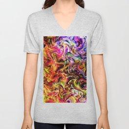 Firey abstract Unisex V-Neck