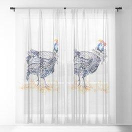 Guineafowl Sheer Curtain