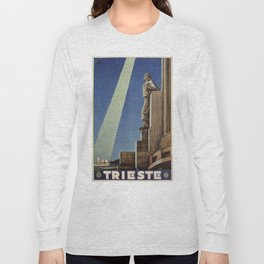 Trieste art deco Italian travel ad Long Sleeve T-shirt