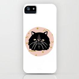 Cosmic Black Cat iPhone Case