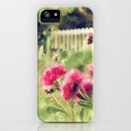 Pink Peonies In A Vintage Garden iPhone Case