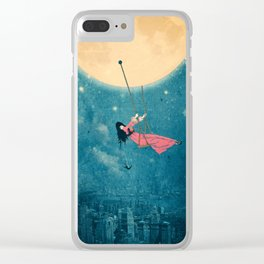 While the city sleeps... Clear iPhone Case