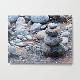 Rock Cairn Metal Print