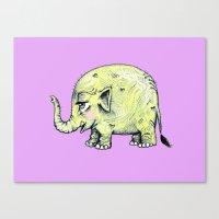 baby elephant Canvas Prints featuring Baby Elephant by Tara Put