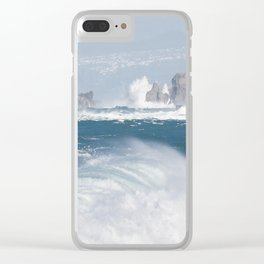 Turbulent Ocean Waves Clear iPhone Case