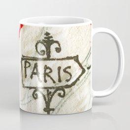 Paris Roadmap of Love Coffee Mug