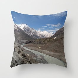 Chandra River Lahaul Valley Throw Pillow