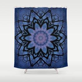 Galaxy Spider Flower Shower Curtain