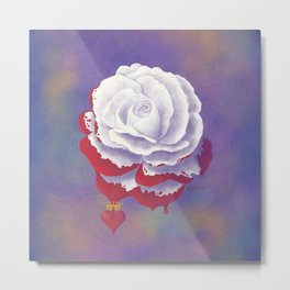Painted Rose cut out Metal Print