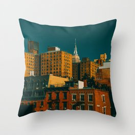 New York City Apartments (Color) Throw Pillow