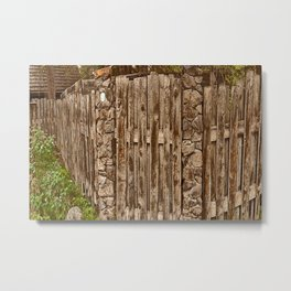 Old Rustic Wooden Fence Metal Print