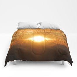 Sunrise in January Comforters
