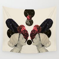 helen Wall Tapestries featuring helen and clytemnestra by cardboardcities