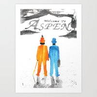dumb and dumber Art Prints featuring Dumb & Dumber by Dan K Norris