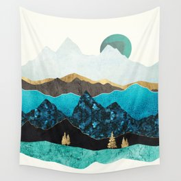 Teal Afternoon Wall Tapestry