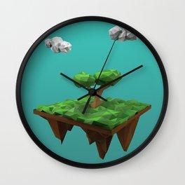 lowpoly summer Wall Clock