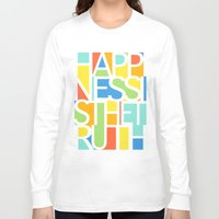 happiness Long Sleeve T-shirts featuring Happiness by Jacqueline Maldonado