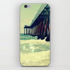 Hermosa Beach Pier Heart Bokeh iPhone & iPod Skin